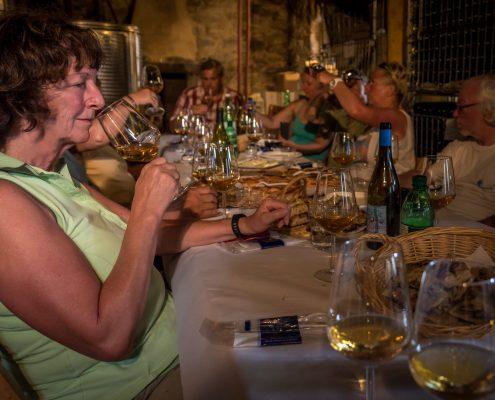 Ligurien, Campiglia, Gourmetreise: Weinverkostung bei Walter de Battè