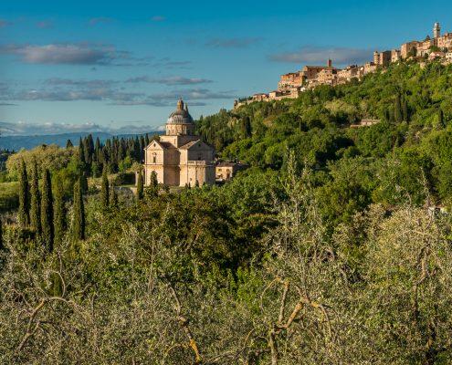 Montepulciano in der suedlichen Toskana, Ziel einer unserer Wanderungen
