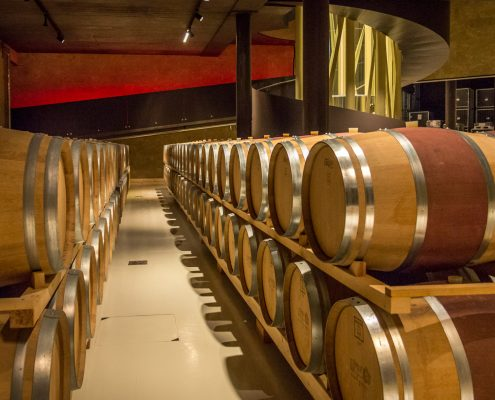 Die Weinkellerei Zyme in der Valpolicella, ein architektonisches Meisterwerk