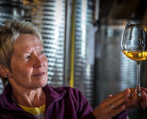 Weinverkostung bei Walter de Battè
