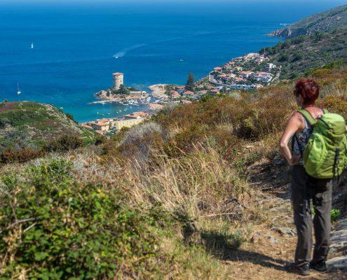 Ausblick vom Wanderweg nach Campese auf Giglio