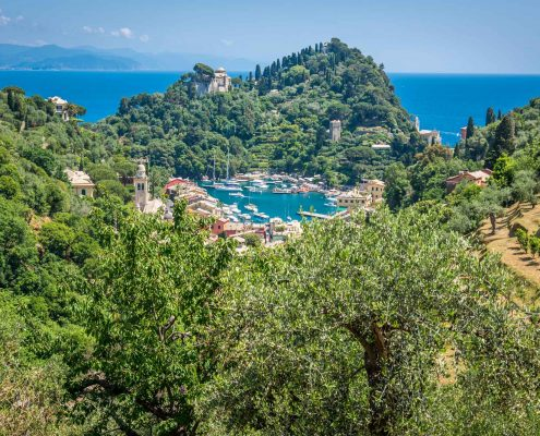 Portofino vom Landgut Niasca aus gesehen