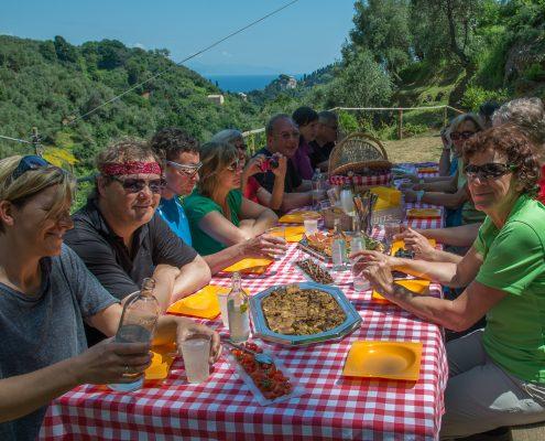 Picknick bei Niasca oberhalb von Portofino