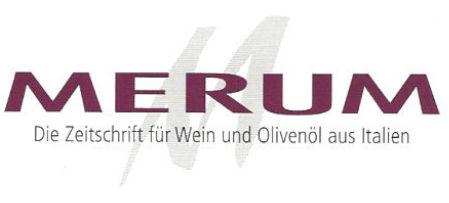 logo Zeitschrift merum fuer Wein, Olivenoel aus Italien
