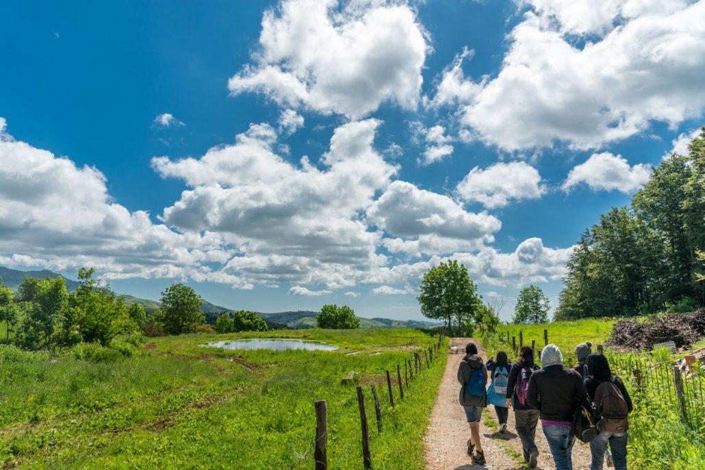 Wandern in der Lessinia im Veneto beim Gardasee