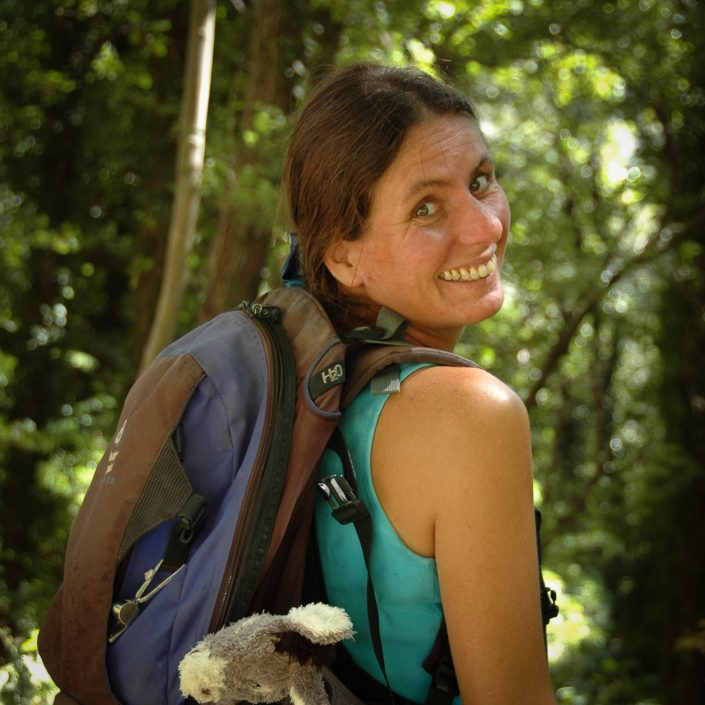 Britta Ullrich, unsere Wanderführerin in der Toskana