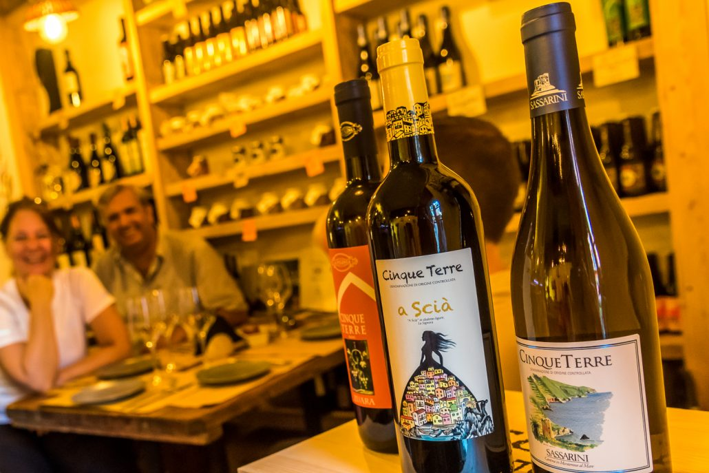 Weinverkostung in Corniglia in den Cinque Terre