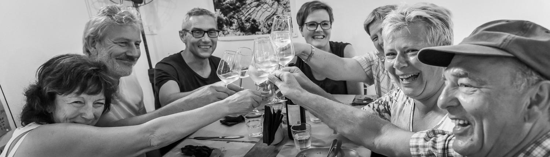 Weinreisen in Italien: Corniglia, viel Spass bei den Weinverkostungen