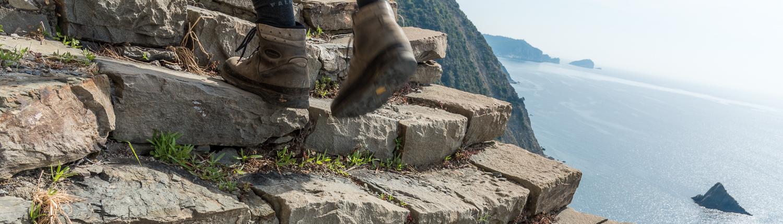 Wandern in den Cinque Terre, die Treppe von Monesteroli