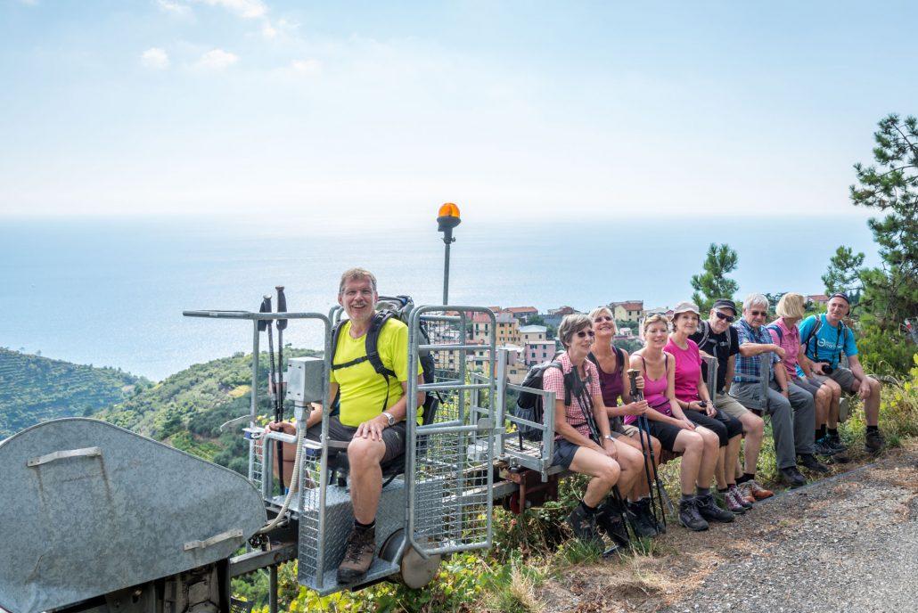 Wandergruppe in den Cinque Terre
