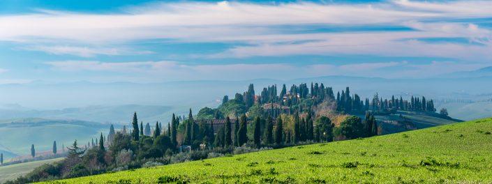 Wandern in Italien Morgenstimmung in der Toskana