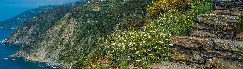 der Treppenweg bei Monesteroli in den Cinque Terre