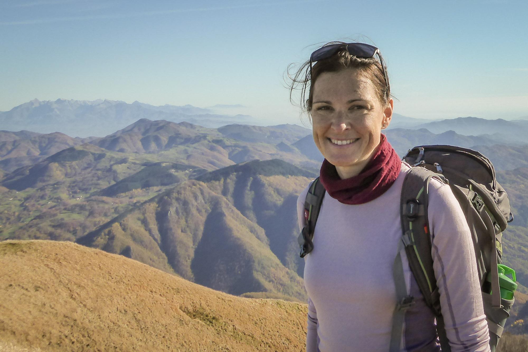 Heidi Pfeiffer, Wanderführerin in Ligurien