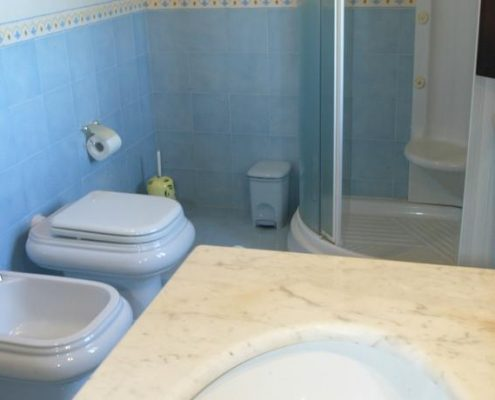 Badezimmer in Ferienwohnung in Vergelle