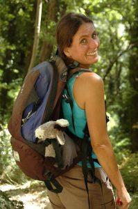 Britta Ullrich unsere Wanderführerin in der südlichen Toskana