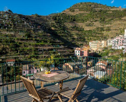 Die Terrasse der Casa Fregagia, Ferienwohnung in Manarola