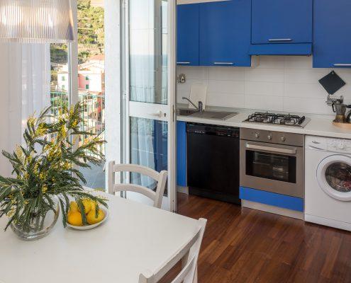 die Küche der Casa Fregagia in Manarola