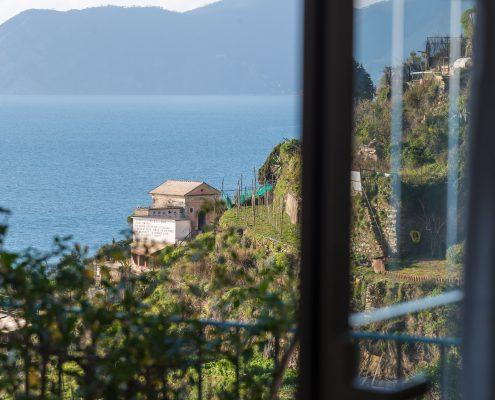 Ausblick von der Wohnung Casa Fregagia in Manarola