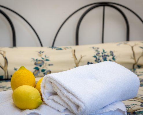 Das Schlafzimmer der Casa Fregagia in Manarola
