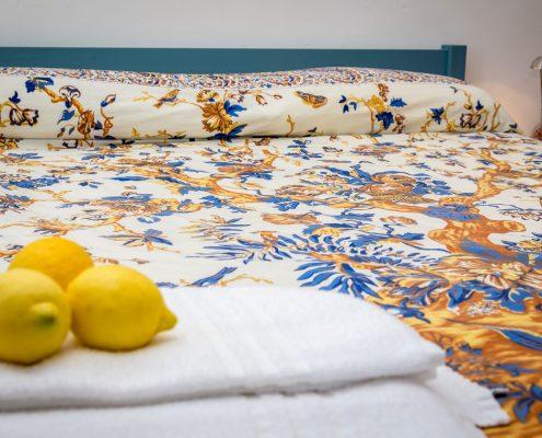 Schlafzimmer der Casa Fregagia in Manarola