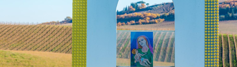 Kunstpark im Weingut Casato Prime Donne bei Montalcino