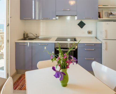 Die Kueche der Ferienwohnung Casa Beccara in Manarola