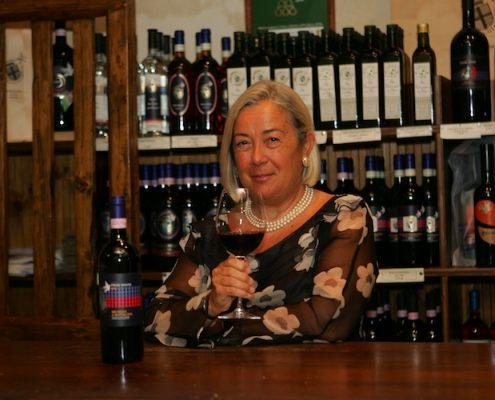 Donatella Cinelli Colombini bei der Weinverkostung