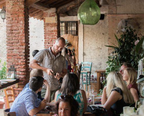 Bardolino, Veneto: Weinverkostung in der Villa Calicantus