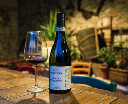 Weinverkostung im Veneto: Bardolino Superiore der Villa Calicantus,