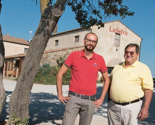 die Geschaeftsfuehrer des Weinguts La Selva