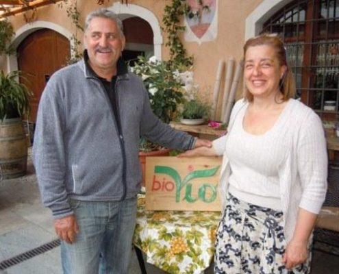 Die Winzer des Bio-Weinguts Bio Vio bei Albenga