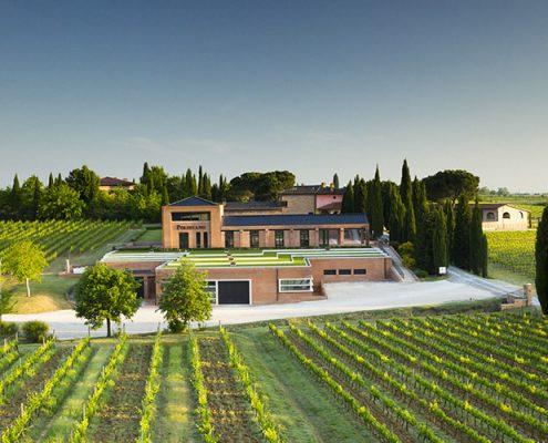 Weinkellerei poliziano bei montepulciano in der Toskana