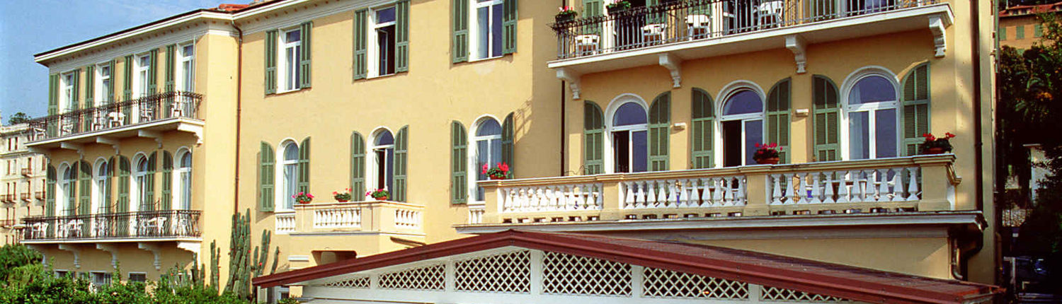 Die Villa Elisa in Bordighera in Ligurien