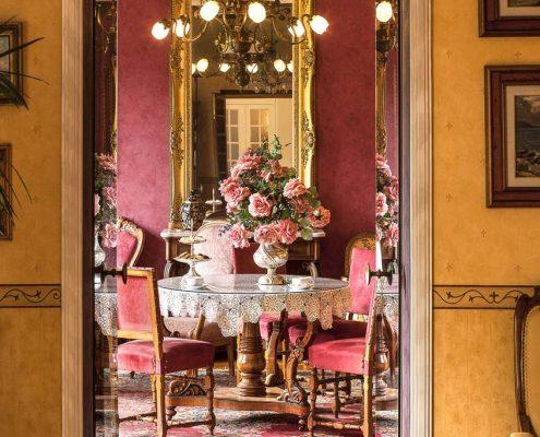Bordighera: der Eingang der Villa Elisa