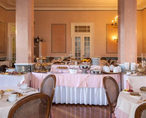 Villa Elisa in Bordighera Fruehstuecksbuffet