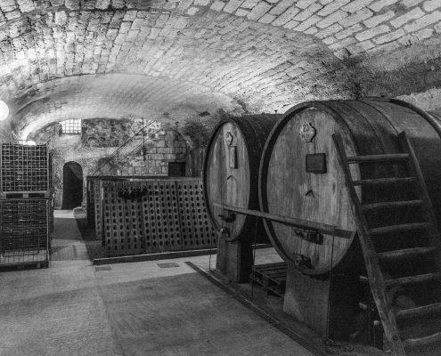 Besichtigung eines historischen Weinkellers im Piemont