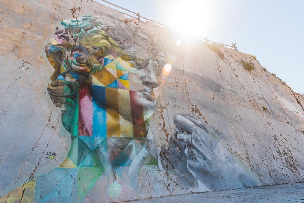 Das David-Murales von Kobra