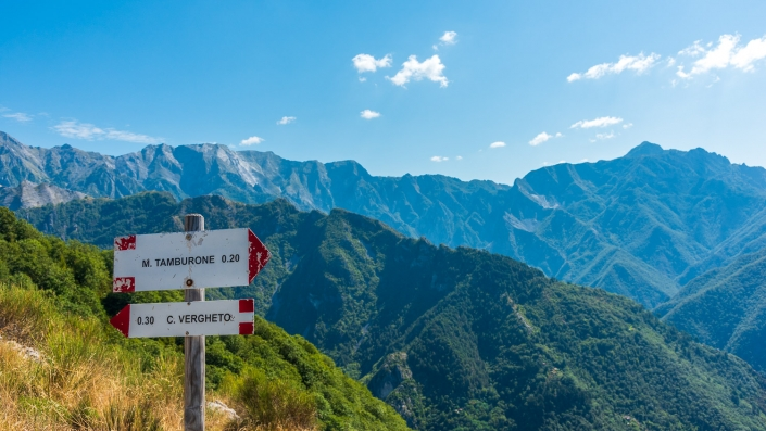 Wanderweg in den Apuanischen Alpen