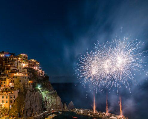 Feuerwerk in den Cinque Terre