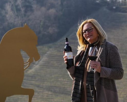 Sabine Ehrmann von der Tenuta Tenaglia bei Crea im Monferrato