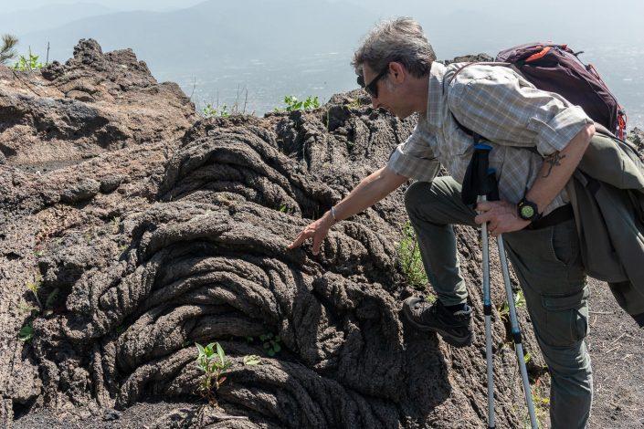 Lava am Vesuv