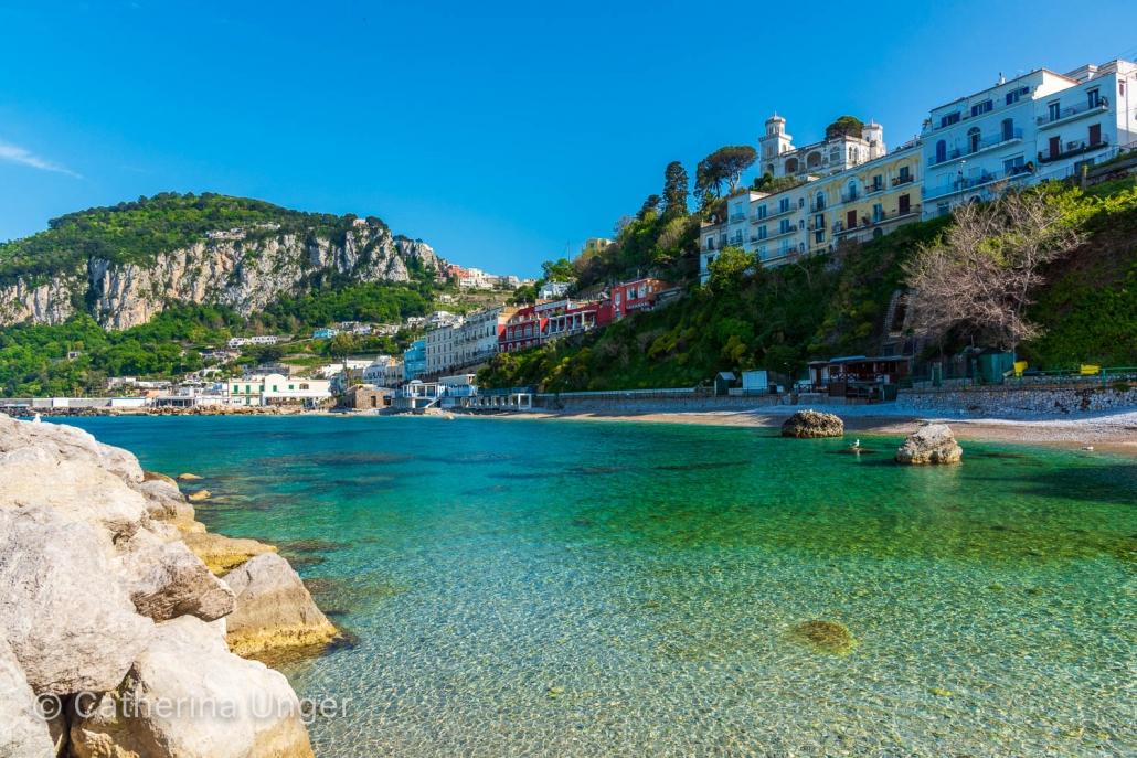 am Strand von Capri