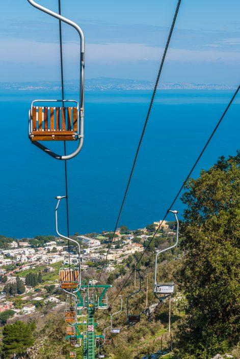 Sessellift zum Monte Solaro auf Capri