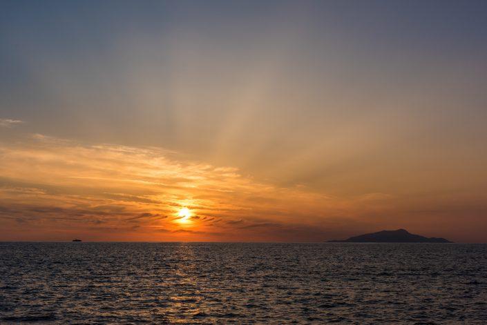 Sonnenuntergang bei Capri