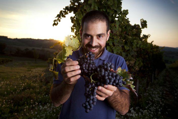 Diego Calcabrina auf seinem Weingut