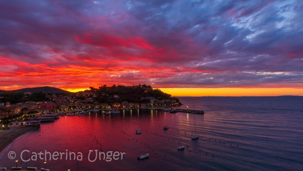 Sonnenaufgang in Porto Azzurro