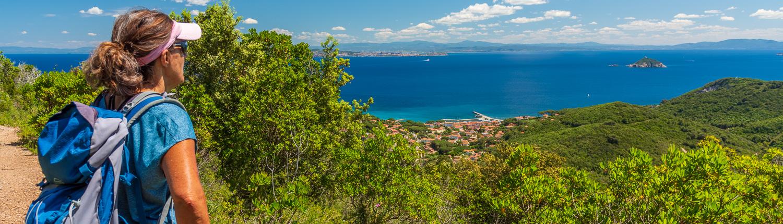 Wandern auf Elba mit Meerblick