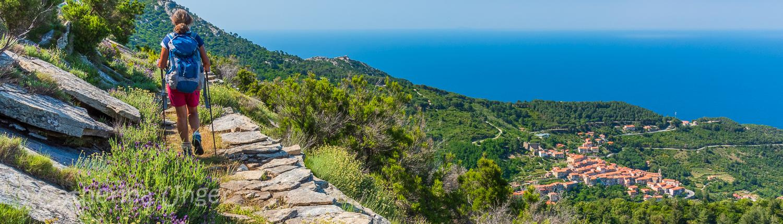 Wandern mit Meerblick auf der Insel Elba