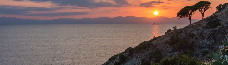 Sonnenuntergang in Pomonte auf Elba