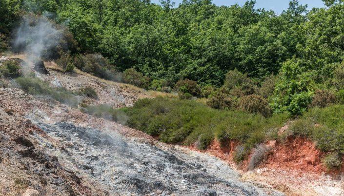 Geothermische Felder in der Maremma